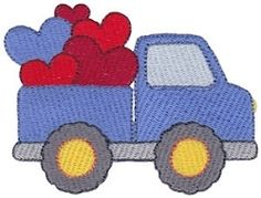Loving You 1 - 2 Sizes! | Trucks | Machine Embroidery Designs | SWAKembroidery.com Bunnycup Embroidery