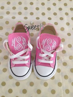 Baby/Toddler Monogram Converse by SweetBMonograms on Etsy, $48.00
