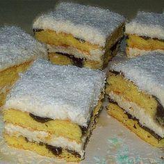Krémes kókuszos sütemény Recept képpel - Mindmegette.hu - Receptek Hungarian Recipes, Hungarian Food, Sweet And Salty, Cake Cookies, Cornbread, Nutella, Ham, Sandwiches, Deserts