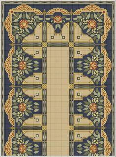 Cross Stitch Borders, Cross Stitch Designs, Cross Stitching, Cross Stitch Patterns, Border Embroidery Designs, Diy Embroidery, Cross Stitch Embroidery, Chart Design, Tapestry Crochet