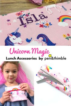 Jumping unicorns these lunch accessories are perfect for your unicorn lover and the Earth both! Cut down on single-use waste with unicorns!