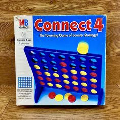 Connect 4 MB Games 1996 Classic Vintage Family Game 100 Complete for sale online Tiles Game, Game Sales, Memory Games, Strategy Games, The Make, Educational Games, Family Games, Vintage Children, Party Games