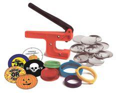 "New!  Badge-A-Minit 2 1/4"" Button Hand Press Starter Kit Halloween #100J #BadgeAMinit"
