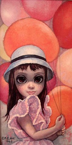 """Margaret Keane is BRILLIANT! I first learned of the """"Big Eyes"""" paintings in an art class I took in college and fell in love. Big Eyes Margaret Keane, Keane Big Eyes, Margareth Keane, Illustrations, Illustration Art, Keane Artist, Big Eyes Paintings, Big Eyes Artist, Eye Art"""