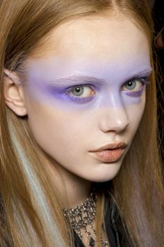 Purple soft makeup