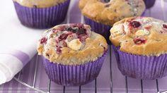 White chocolate and berry muffins recipe - 9Kitchen