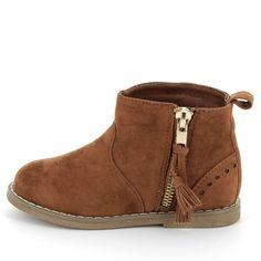 Boots suédine à pompons Petite fille - Kiabi - 17,00€