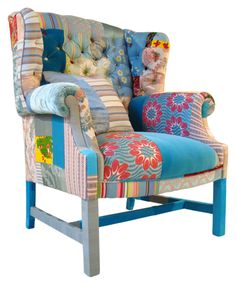 What's not to love about this! Patchwork Armchair. Maybe for a kids room or their playroom