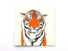 PenguinInks :: Tiger letterpress card