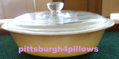 Glasbake  Two Tone Brown  J235  Oval by pittsburgh4pillows on Etsy