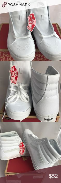 Vans High Tops - Tru White Size 11 and 13 Brand new white Vans High Tops! SK8 True white. Vans Shoes Sneakers
