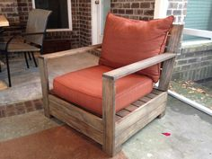 Belvedere Lounge Chair. Love this Restoration Hardware look alike. Plan from http://ana-white.com/2012/02/plans/bristol-outdoor-lounge-chair but he used two 1x4's around the base instead. Like this mod! Stain is espresso with a little grey to accent for a teak like finish.
