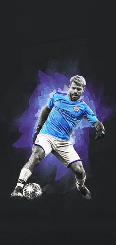 """""""Recently, contacted me to join a few other designers in working to create wallpapers for their Here are 4 of the 6 they have already posted and there a few more coming out over the coming weeks. Football Wallpaper Iphone, Argentina Football Team, Manchester City Wallpaper, Fc Barcelona Wallpapers, Sergio Aguero, Kun Aguero, Sports Graphic Design, Football Art, Soccer Stars"""