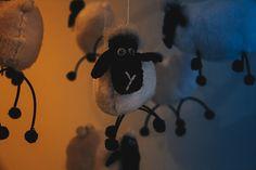 New born shoot, Handmade felt sheep mobile.
