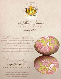 Skin Sense, Easter Eggs! Our Tradition