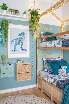Dinosaur Room Decor, Dinosaur Bedroom, Dinosaur Kids Room, Toddler Rooms, Baby Boy Rooms, Little Boys Rooms, Boys Room Decor, Kids Bedroom, Bedroom Ideas