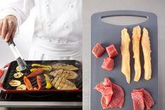 Recette de Plancha de viande et légumes