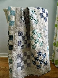****The background and link to instructions for my favorite blue quilt. - s.o.t.a.k handmade: 16 patch {a finished quilt}