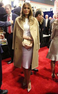 EVGENIA GLMelania Trump shoulder robes at the CNN Republican Presidential Debate.