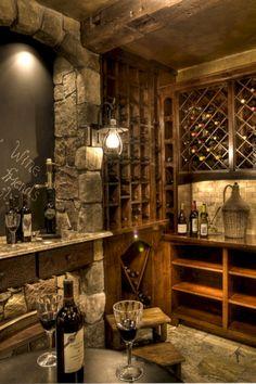 Wine Cellar Design Ideas, Pictures, Remodels and Decor Wine Cellar Basement, Beer Cellar, Home Wine Cellars, Casa Loft, Wine Cellar Design, Sweet Home, Cigar Room, Deco Originale, Italian Wine