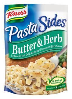 Knorr/Lipton Pasta Sides, Butter & Herb, 4.4-Ounce Packages (Pack of 12) Knorr,http://www.amazon.com/dp/B000EXKS1E/ref=cm_sw_r_pi_dp_bMxFtb1AJ051V41K