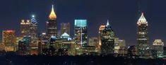 Atlanta Skyline from Buckhead, by Chuck Koehler Cartersville, GA, USA Atlanta Skyline, Philadelphia Skyline, Nyc Skyline, Atlanta Bars, Atlanta City, Atlanta Nightlife, Visit Atlanta, Atlanta Police, Atlanta