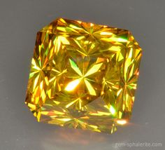 Spanish sphalerite, 18.64 ct, Sparkly Dome faceting design by Marco Voltolini, cut by Egor Gavrilenko.