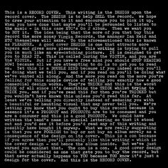 XTC / Go 2 by Hipgnosis (The cover is more punk than the album, but still.)   #punklondon  via @scottstowell