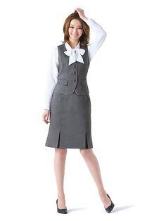 接客事務・サービス業の事務服ベストスーツ