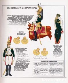 French; Imperial Guard, Dragoon(The Empress' Dragoons) Regt, Commanding Officers