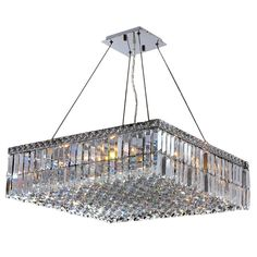 This stunning 12-light Crystal Chandelier only uses the best quality material and workmanship ensuring a beautiful heirloom quality piece. Featuring a radiant chrome finish and finely cut premium grad...