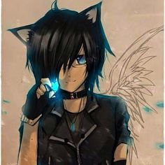 anime boy black hair blue eyes - Google-Suche