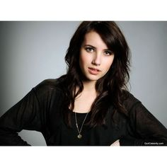 Emma Roberts wallpaper 020 ❤ liked on Polyvore