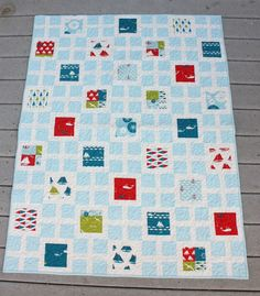 Diary of a Quilter: New Pattern + New Quilt: Square Knots. Fabric is Set Sail by @Victoria Brown starlight Fabrics