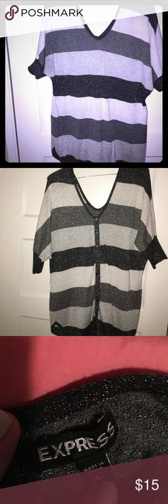 Blouse Sweater material shimmery blouse Express Tops Blouses