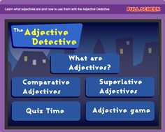 What a great online game for cooperative learning about adjectives! There's a freebie here too!