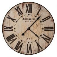 Antiquité Wall Clock from Urban Barn Giant Wall Clock, Best Wall Clocks, Wooden Clock, Urban Barn, Farmhouse Clocks, Urban Farmhouse, Rustic Clocks, Farmhouse Style, Oversized Clocks
