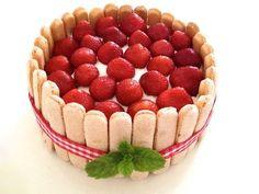 Recept - Charlottetaart met Aardbeien - met Zonnigfruit