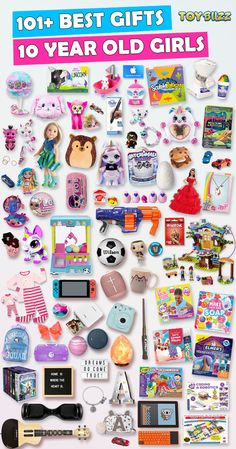 Best Gifts For 10 Year Old Girls 2019 – Toy Buzz Best Gifts For 10 Year Old Girls 2019 Gifts for 10 year old girls for birthdays, Christmas, or any occasion. See the best toys for 10 year old girls. Tons of gift ideas for 10 year olds sorted by category.