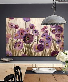Take a look at the Pink & Purple Flowers Gallery-Wrapped Canvas on #zulily today!