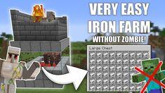 Minecraft Redstone Creations, Minecraft Iron, Minecraft House Plans, Minecraft Farm, Amazing Minecraft, Minecraft Tips, Minecraft Tutorial, Minecraft Projects, Minecraft Designs