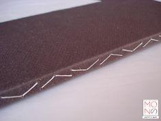 copertina in cartoncino Zaansch Bord, cucitura dentellata, formato A5 - www.monoarte.it