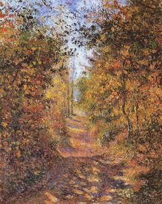 Camille Pissarro Impressionist | Camille Pissarro ~ Autumn at Eragny
