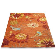 Bird in Garden Outdoor Rug