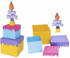 Silhouette Design Store - View Design #80144: happy birthday cake box