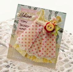 Shine Handmade Greeting Card by creativepapertrail on Etsy.
