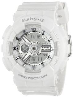 Casio Women's BA-110-7A3CR Baby-G Analog Display Quartz White Watch | Amazon.com