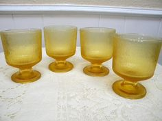 4 stemmed highball glasses or ice cream cups by TreasuresFromTexas, $15.00