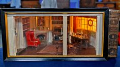 Miniature Colonial Williamsburg room, by Eugene Kupjack, featured on Antiques Roadshow.