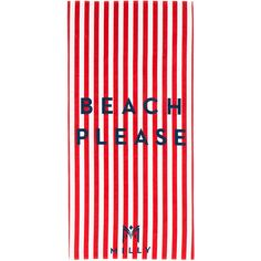 MILLY Beach Please Striped Beach Towel (270 RON) ❤ liked on Polyvore featuring home, bed & bath, bath, beach towels, swim, stripe beach towel and striped beach towels